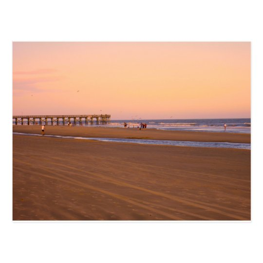 Rosy Evening at Isle of Palms Postcard