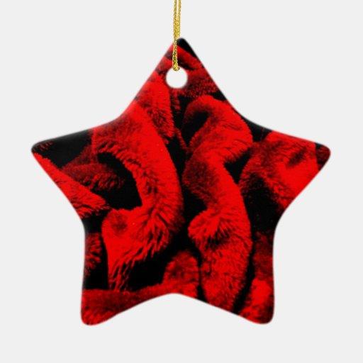 Rosy Fabric Christmas Tree Ornament