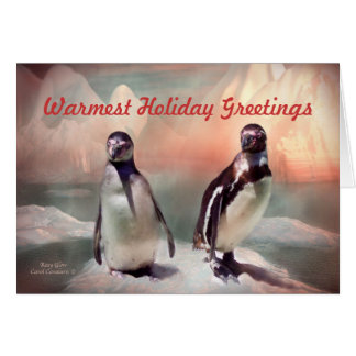 Rosy Glow Holiday ArtCard Greeting Card