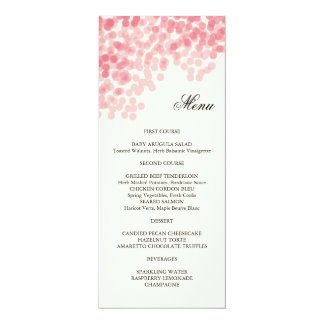 Rosy Light Shower Menu Card 10 Cm X 24 Cm Invitation Card