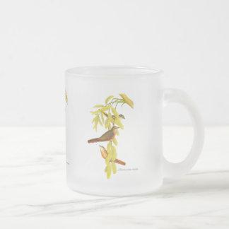 Rosy Minivet 10 Oz Frosted Glass Coffee Mug