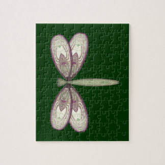 Rosy Nouveau Dragonfly Jigsaw Puzzle