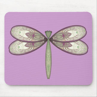 Rosy Nouveau Dragonfly Mouse Pad