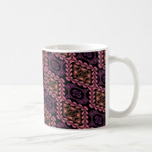 rosy ornate tiled pattern mug