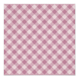 Rosy Pink Gingham Invitation
