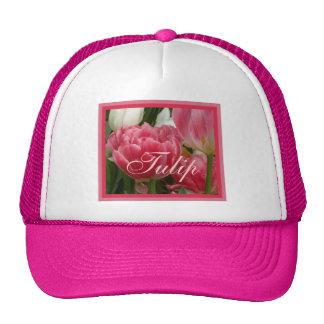 Rosy Pink Tulip Trucker Hat