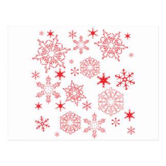 Rosy Snowflakes Postcard