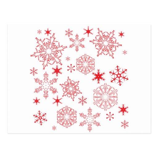 Rosy Snowflakes Postcards