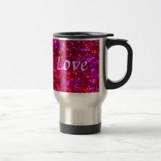 Rosy Sparkle 'Love' Travel Mug
