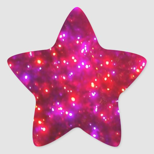 'Rosy Sparkle' Star-Shaped Stickers