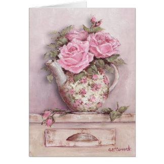 Rosy Tea Pot Card