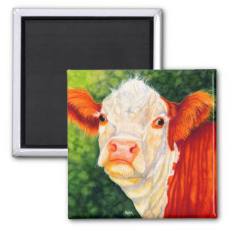 Rosy The Happy Heifer Hereford Cow Magnet