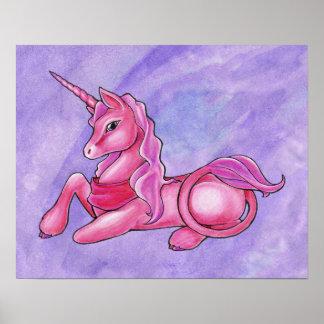 Rosy Unicorn Poster