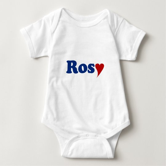Rosy with Heart Baby Bodysuit