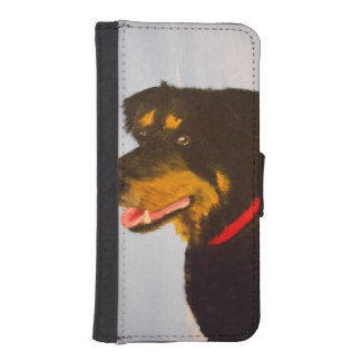 Rot,collie mix iphone wallet