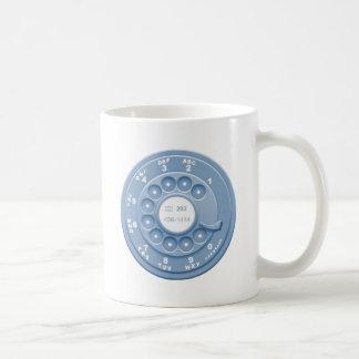 Rotary Faux -blu Basic White Mug