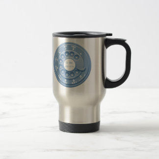 Rotary Faux -blu Stainless Steel Travel Mug