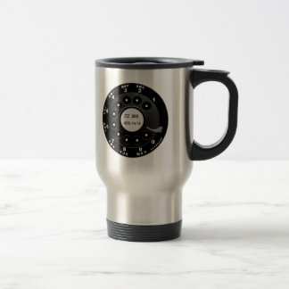 Rotary Phone Dial Stainless Steel Travel Mug