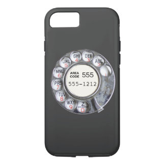 Rotary phone dial with phone number iPhone 8/7 case