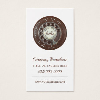 Rotary Phone Look Business Card