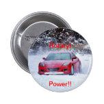 Rotary power 6 cm round badge
