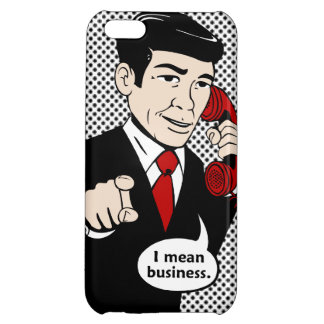 Rotary Retro Man Means Business iPhone 5C Cover