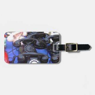 Rotary Telephone Bag Tag