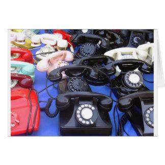 Rotary Telephone Greeting Card