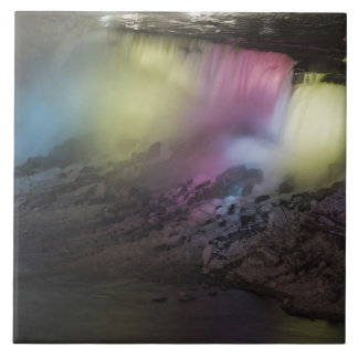 Rotating colored light display on American Falls Large Square Tile
