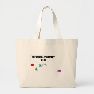 Rotational Symmetry Large Tote Bag