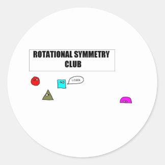 Rotational Symmetry Round Stickers