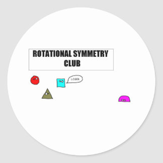 Rotational Symmetry Round Stickers