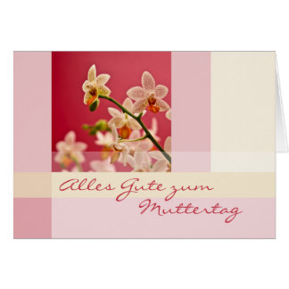 Rote Orchidee • Muttertagskarte Greeting Cards