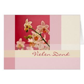 Rote Orchidee • Vielen Dank Grusskarte Card