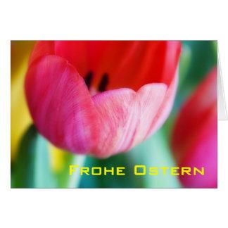 Rote Tulpen • Osterkarte Card