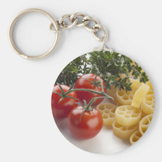 Rotelle Pasta and Ingredients Keychain