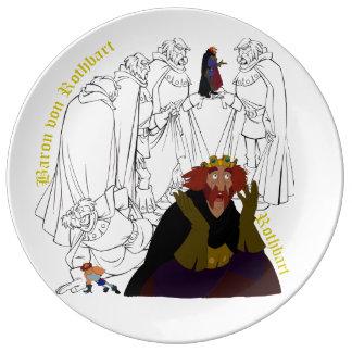 "Rothbart Porcelain Sketch Plate (10.75"")"