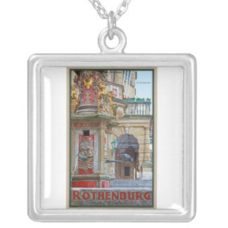 Rotheburg od Tauber - St George Fountain Square Pendant Necklace