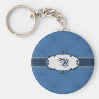 Rothenburg Blue Monogram-Letter R Key Chain