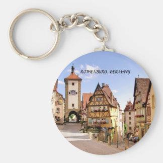 ROTHENBURG, GERMANY BASIC ROUND BUTTON KEY RING