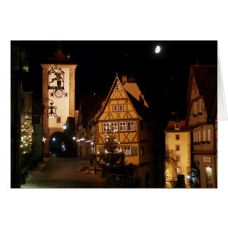 Rothenburg Germany in Moonlight Greeting Card