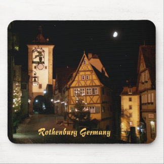 Rothenburg Germany in Moonlight Mouse Pad