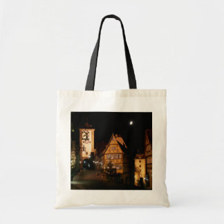 Rothenburg Germany in Moonlight Budget Tote Bag