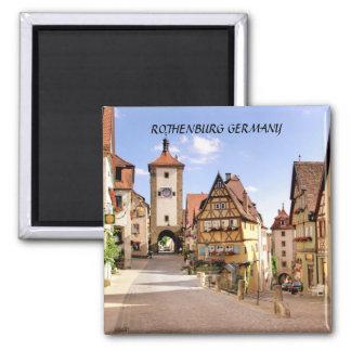 ROTHENBURG  GERMANY SQUARE MAGNET