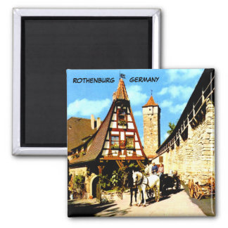 ROTHENBURG  GERMANY SQUARE MAGNET