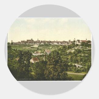 Rothenburg (i.e. ob der Tauber), general view,  Ba Round Sticker
