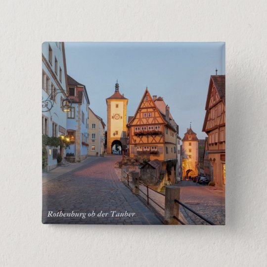 Rothenburg ob der Tauber 15 Cm Square Badge