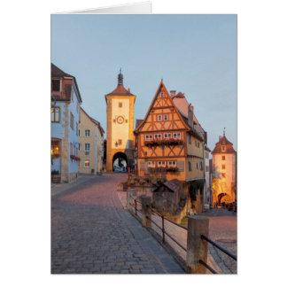 Rothenburg ob der Tauber Greeting Card