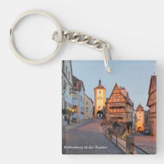 Rothenburg ob der Tauber Single-Sided Square Acrylic Key Ring