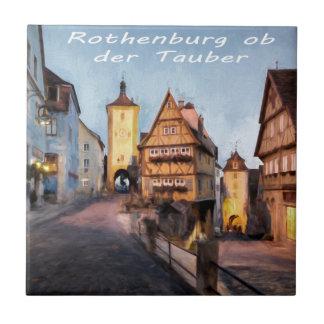 Rothenburg ob der Tauber Small Square Tile